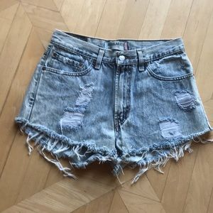 Torn shorts can be worn day or night